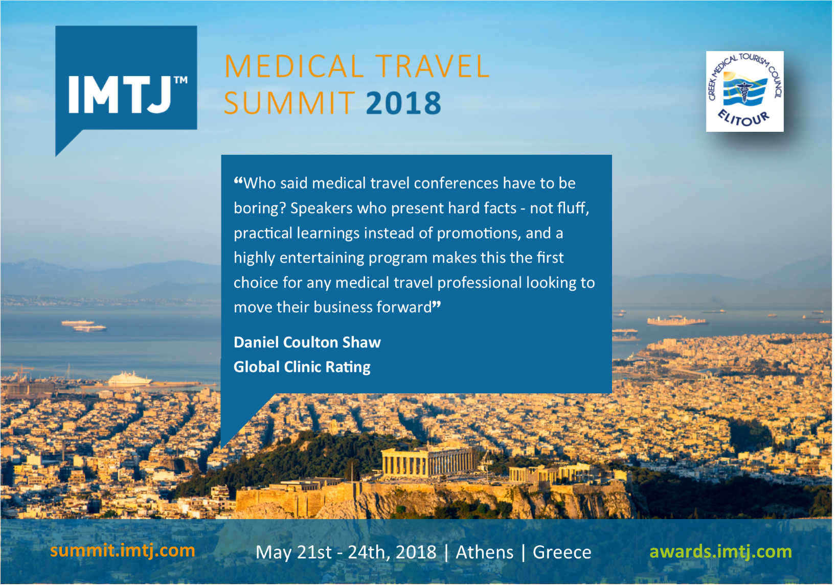 IMTJ Medical Travel Summit: reasons to attend
